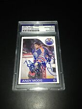 Andy Moog Signed 1985-86 O-Pee-Chee OPC Oilers Card PSA Slabbed #83428688
