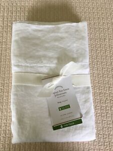 Set/2 Pottery Barn Belgian Flax Linen KIng Pillowcases