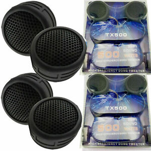 2 PAIR OF 500W SUPER HIGH FREQUENCY LOUD MINI DOME CAR TWEETERS