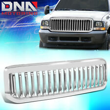 FOR 99-04 F450/F550 SUPER DUTY CHROME VERTICAL ABS FRONT UPPER HOOD GRILLE GUARD