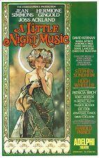 "Stephen Sondheim ""A LITTLE NIGHT MUSIC"" Jean Simmons 1975 London Opening Flyer"
