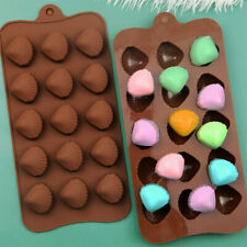 Silicone 15 Shells Nuts Cake Chocolate Moulds Baking Cookies Candy Ice Cube Mold