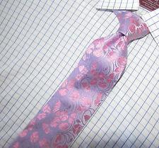 Superb Croft & Barrow Lavender & Pink Floral Silk Tie  60 X3.5