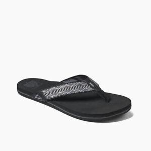 Reef Men's Newport Flip Flops Sandals - Woven Grey NWT