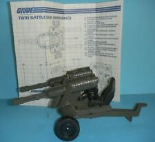 1983 GI Joe Whirlwind Twin Battle Machine Gun Cannon w/ Blueprints *Complete