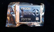 Epson T0711H Genuino Original Negro Alta Capacidad Cartucho De Tinta