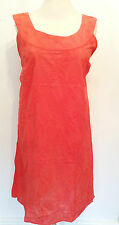 Simply Be Plus Size 26 Bright Coral Embroidered Summer Holiday Cotton Yoke DRESS