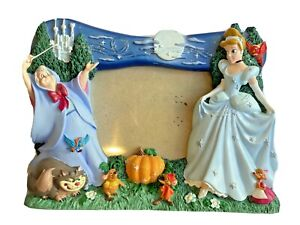 Disney 3D Cinderella Fairy Godmother Picture Frame Lucifer Gus Mice