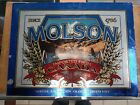 2 Vintage Molson Beer Ale Since 1786 Signs 1 in Gold 1 in Silver