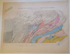 New Listing4 1872 Colored Maps Pennsylvania Topography,Geology,Coal,I ron,Zinc,Flora,Weather