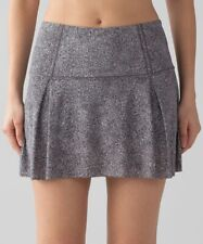 Lululemon Lost in Pace Skirt US 10 UK 12-14 Run Skort White Black Mini Shorts