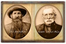 HATFIELDS & McCOYS Infamous Feuding Family Patriarchs Cabinet Card Photo RP