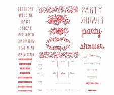 "Lifestyle Crafts-We ""R"" Letterpress Printing Plate Set FLORAL INVITE  ~03750-7"
