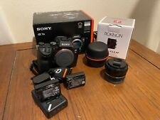 Sony Alpha A7 III Mirrorless Digital Camera - Body with Rokinon 24mm f/2.8 Lens