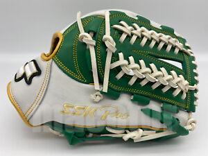 "Japan SSK Special Pro Order 11.75"" Infield Baseball Glove Green White Nets RHT"