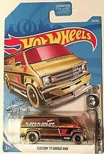 Hot Wheels Custom '77 Dodge Van #23 * Gold * 2019
