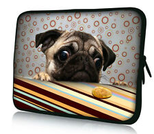 """13"""" Pug Laptop Sleeve Bag Case Cover For 13.3"""" Apple MacBook Pro,Air,HP Folio PC"""