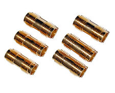 6X SMA Female Jack to Female Jack Coupler - Barrel Gold Adapter Ham Radio 6Pcs