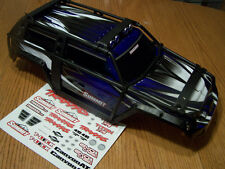 Traxxas 1/10 Summit 5607 Blue Silver White Factory Painted Body w ExoCage Decals