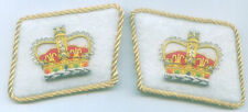 Royalty Queen Crown Heraldry Uniform Collar Tabs Officer Parade Patch Dynasty UK