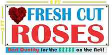 FRESH CUT ROSES Full Color Banner Sign for candy gifts valentine wedding red