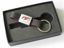 VW Red R LEATHER Keyring KeyChain for VOLKSWAGEN GOLF PASSAT R32 SIROCCO MK6 MK7
