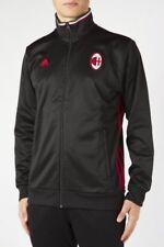 adidas AC Milan 3 Stripe Track Top Size XXL Black RRP £55 BNWT AP1528