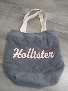 Gray Hollister Quilted Tote Bag