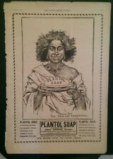 TT151 1903 Plantol Soap Young Ladies Journal Ad Black Woman Lever Bros