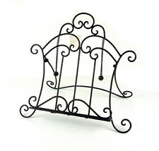Country Iron Scroll Recipe Holder Book Stand With Metal Weights Black 36.5cm(W)