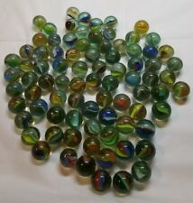 Lot Of 75 Cat Eye Marbles Standard Mixed Modern All Colors