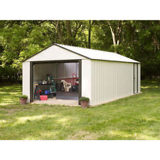 Arrow Murrayhill Vinyl Coated Steel Shed  14' W x 21' L With Roll Up Garage door