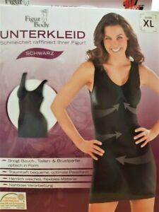 Figur Body Unterkleid schmeichelt, raffiniert Ihre Figur! Größe XL in Schwarz