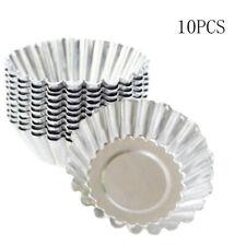 10PCS Cupcake Lined Mold Egg Tart Molds Aluminum Baking Cup Cake Mould Tin Tool