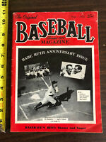 1952 The Original Baseball Magazine, Babe Ruth Anniversary Issue Vol 89 No 3