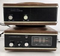 Wynford Hall Sanyo Japan NSI-1103 Rotating Stereo Flip Clock Radio W Speaker Vtg