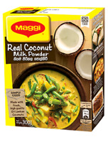 REAL COCONUT MILK POWDER THICK AND CREAMY HALAL CEYLON REAL TASTE 25g -1kg MAGGI