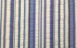 "COVINGTON ANACAPRI BLUE STRIPE WHITE CUSHION FURNITURE FABRIC BY THE YARD 55""W"