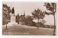 General Wolfe Statue & Observatory Greenwich London Vintage RP Postcard 860b