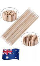 100pcs Nail Art Orange Wood Sticks Cuticle Pusher Removal Manicure