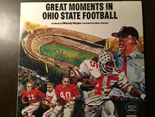 """Ohio State Buckeyes 1970's  """"Great Moments in OSU football"""" Vinyl LP Record"""