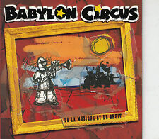 CD SINGLE PROMO 2 TITRES+ BONUS PHOTO / BABYLON CIRCUS DE LA MUSIQUE ET DU BRUIT