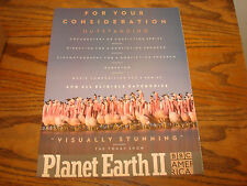PLANET EARTH II BBC AMERICA 2017 Emmy ad for Outstanding or Nonfiction Series
