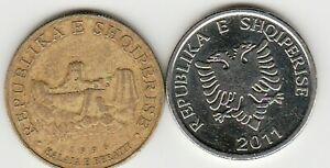 2 different world coins from ALBANIA