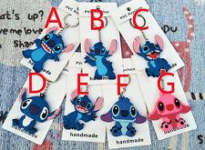 Disney lilo&stitch blue pink key chain key chains cute chains cartoon gift