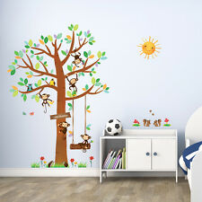 Decowall DM-1401 Monkey&Tree Wall Stickers Removable  Decals Nursery Mural kids
