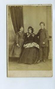 Women & 2 Children Look At Photo Album c1869 CdV Photo - Becket Glasgow