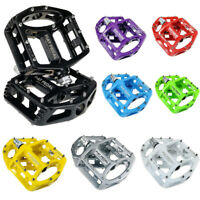 MTB Road Bicycle BMX Platform Bike Flat Pedals Big Foot Magnesium Alloy 9/16""