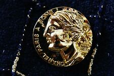 Authentic Chanel Button 1 pieces  gold  logo cc 💋💋💋 gold 25 mm