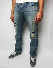Stonewashed Classic Fit, Straight EVISU Jeans for Men
